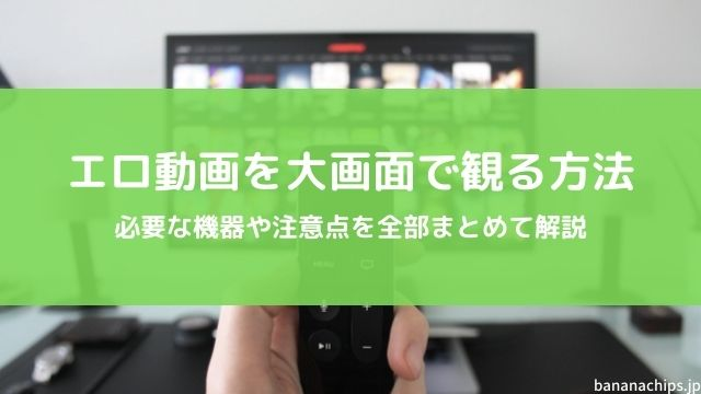 エロ動画を大画面テレビで見る方法